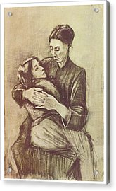 Mother And Child Acrylic Print by Vincent Van Gogh