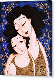 Mother And Daughter Acrylic Print by Rebecca Mott