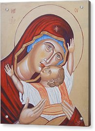 Mother And Son Acrylic Print by Jovica Kostic