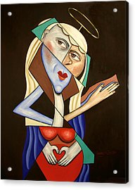 Mother Mary Acrylic Print by Anthony Falbo