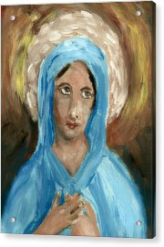 Mother Mary Acrylic Print by Peg Holmes
