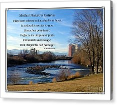 Acrylic Print featuring the photograph Mother Natures Canvas by Bobbee Rickard