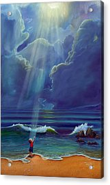 Mother Nature's Kiss Acrylic Print by Stephen Kenneth Hackley