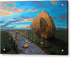 Acrylic Print featuring the painting Mother Of Anguishes  by Lazaro Hurtado