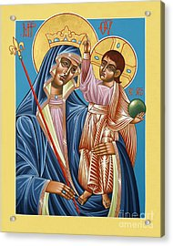 Acrylic Print featuring the painting Mother Of God Asking For Humility 143 by William Hart McNichols