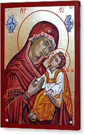 Mother Of God Acrylic Print by Filip Mihail