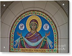 Mother Of God Mosaic Acrylic Print by William Norton