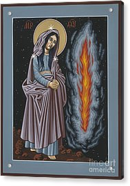 Acrylic Print featuring the painting Mother Of God Of Kosovo 087 by William Hart McNichols