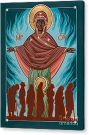 Mother Of Sacred Activism With Eichenberg's Christ Of The Breadline Acrylic Print