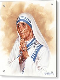 Mother Teresa Acrylic Print