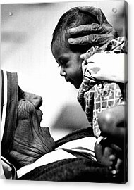 Mother Teresa Holds Baby Acrylic Print by Retro Images Archive