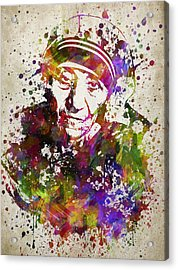 Mother Teresa In Color Acrylic Print by Aged Pixel