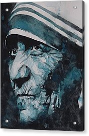 Mother Teresa Acrylic Print by Paul Lovering