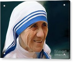 Mother Teresa Acrylic Print by Paul Tagliamonte