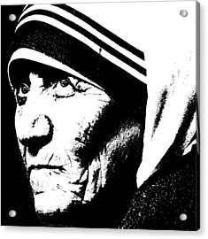 Mother Teresa Acrylic Print by Penny Ovenden