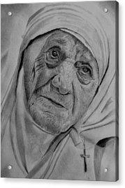 Mother Theresa-close Up Acrylic Print