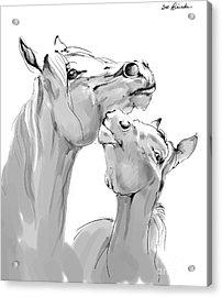 Motherhood Acrylic Print by Angel  Tarantella