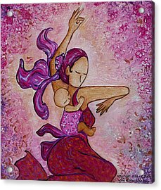 Motherhood Babywearing Artwork Dancing Together Acrylic Print