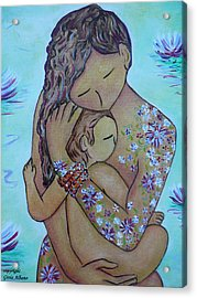 Motherhood Flowers All Over Acrylic Print