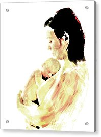 Acrylic Print featuring the mixed media Motherhood by Lisa McKinney