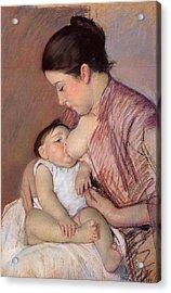 Motherhood Acrylic Print by Marry Cassatt