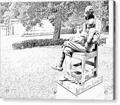 Motherless Sculpture By George Anderson Lawson Acrylic Print
