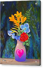 Mothers Day Bouquet Acrylic Print by Teresa Ascone