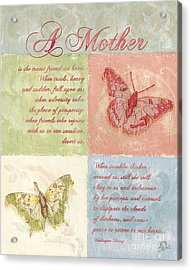 Mother's Day Butterfly Card Acrylic Print by Debbie DeWitt