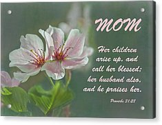 Mothers Day Card For Mom Acrylic Print by Sandi OReilly