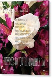 Mothers Day Cards Acrylic Print by Debra     Vatalaro