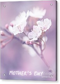 Mother's Day Greeting Card Acrylic Print