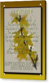 Mothers Day Plaques Acrylic Print by Debra     Vatalaro