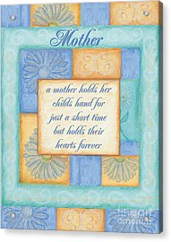 Mother's Day Spa Card Acrylic Print by Debbie DeWitt