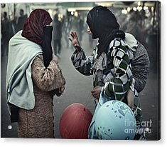 Acrylic Print featuring the photograph Mothers Having A Ball by Michel Verhoef