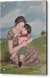 Mother's Love Acrylic Print by Angela Melendez