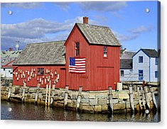 Acrylic Print featuring the photograph Motif In Rockport by Caroline Stella
