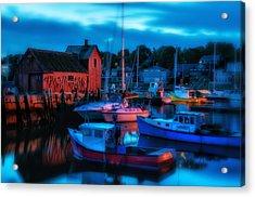 Motif No 1 Rockport Massachusetts Acrylic Print by Thomas Schoeller
