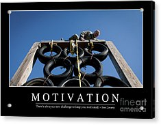 Motivation Inspirational Quote Acrylic Print by Stocktrek Images