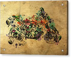 Moto Art  Floral 03t01 Acrylic Print by Variance Collections