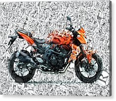 Moto Art S01-01a Acrylic Print by Variance Collections