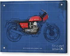 Moto Guzzi 850 Le Mans 1976 Acrylic Print by Pablo Franchi