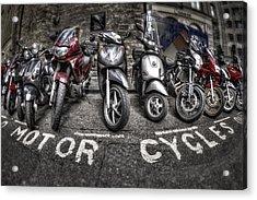 Motor Cycles Acrylic Print