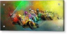 Motorbike Racing 02 Acrylic Print