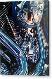 Motorcycle Abstract Acrylic Print by Molly Gossett