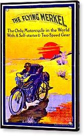 Motorcycle Ad 1913 Acrylic Print