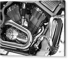 Motorcycle Close-up Bw 1 Acrylic Print