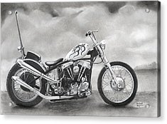 Motorcycle Acrylic Print by Heather Gessell