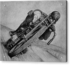 Motorcycle Man Acrylic Print