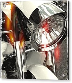 #motorcycle #motorcycles Acrylic Print by Mike Maher
