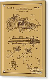 Motorcycle Stand Rust Acrylic Print